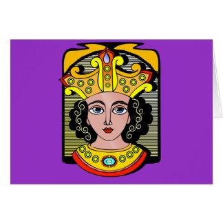 エジプトの女王のイラストレーション カード