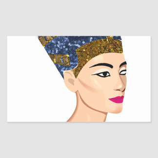 エジプトの女王のnefertiti 長方形シール