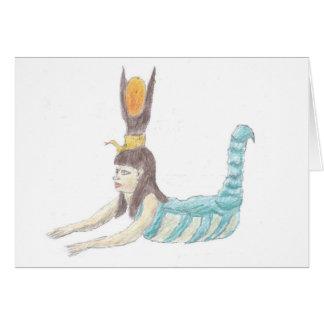 エジプトの女神Selket notecard. カード