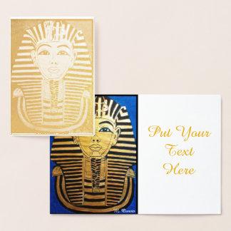 エジプトの招待状カードのような歩行 箔カード