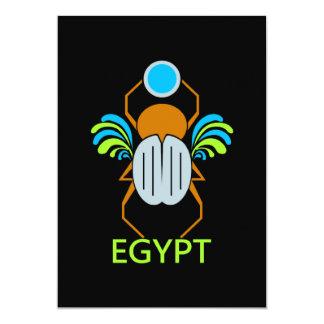 エジプトの招待-カスタマイズ カード