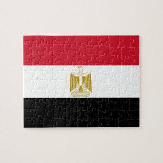 エジプトの旗が付いているパズル ジグソーパズル