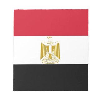 エジプトの旗が付いているメモ帳 ノートパッド
