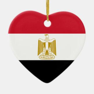 エジプトの旗のハートのオーナメント セラミックオーナメント