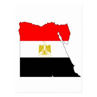 エジプトの旗の地図 ポストカード