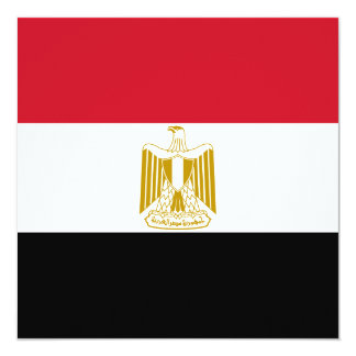 エジプトの旗の招待状 カード