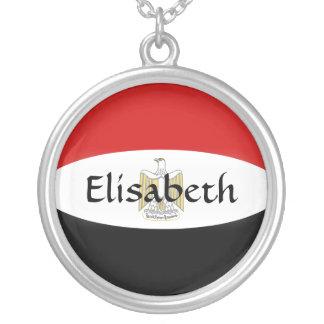 エジプトの旗 + 一流のネックレス シルバープレートネックレス