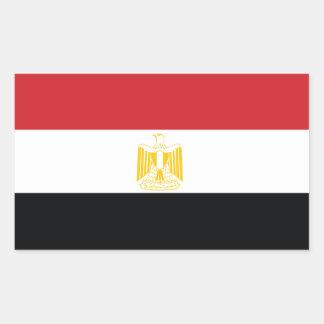 エジプトの旗 長方形シール