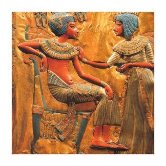 エジプトの浅浮き彫り キャンバスプリント