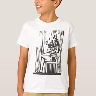 エジプトの着席のAnubis Tシャツ