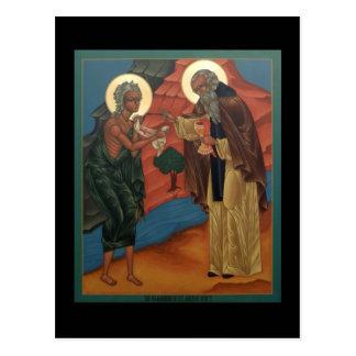 エジプトの祈りの言葉カードのSt Maryの聖餐 ポストカード