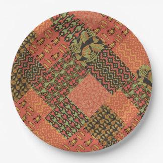 エジプトの種族の模造のなパッチワークの紙皿 ペーパープレート