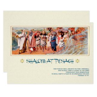 エジプトの絵画の過ぎ越しの祝いの挨拶状からの出国 カード