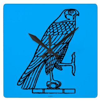 エジプトの記号: 《鳥》ハヤブサ スクエア壁時計