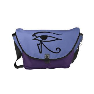 エジプトの記号: Utchat メッセンジャーバッグ