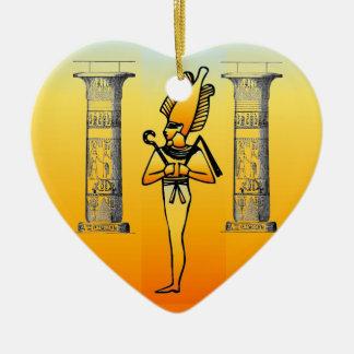 エジプトの象形文字のオーナメント セラミックオーナメント