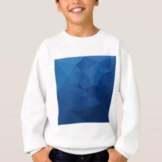 エジプトの青の抽象芸術の低い多角形の背景 スウェットシャツ
