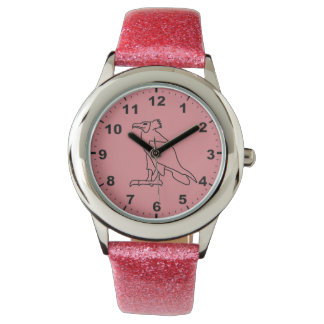 エジプトの鳥のデザインの腕時計 腕時計