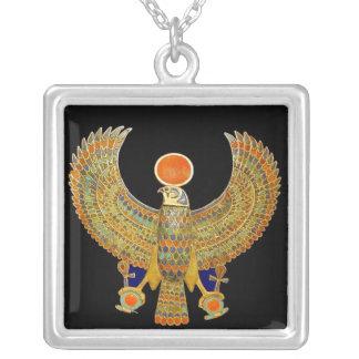 エジプトの《鳥》ハヤブサ シルバープレートネックレス