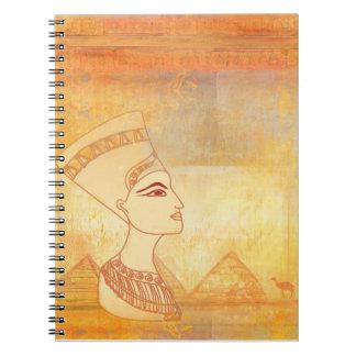 エジプトのCleopatra女王のノート ノートブック