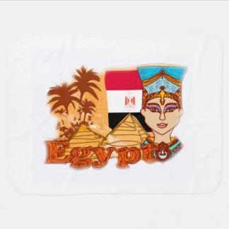 エジプトのcleopatra女王のベビーブランケット ベビー ブランケット