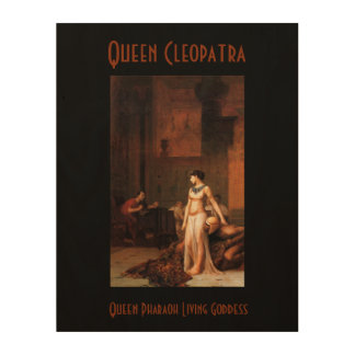 エジプトのCleopatra女王の女王! ウッドウォールアート