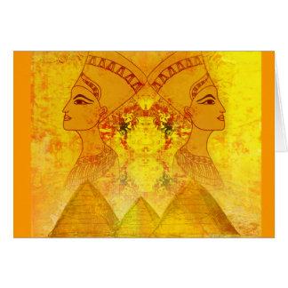 エジプトのCleopatra女王カード カード
