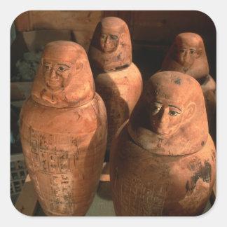 エジプトはAbuで、第26王朝のカノプス壺見つけました スクエアシール