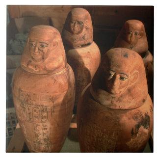 エジプトはAbuで、第26王朝のカノプス壺見つけました タイル