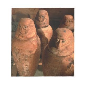 エジプトはAbuで、第26王朝のカノプス壺見つけました ノートパッド