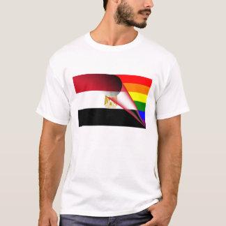 エジプトゲイプライドの虹の旗 Tシャツ