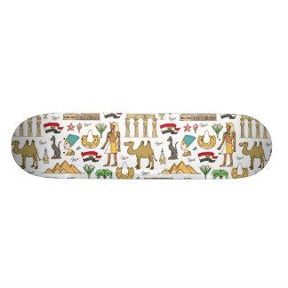 エジプトパターンの色の記号 19.7CM スケートボードデッキ