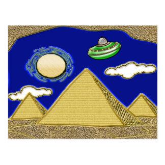 エジプト上のUFO ポストカード