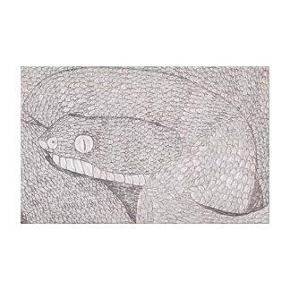 エジプト人によって鋸量られる毒蛇(Echisのpyramidum) キャンバスプリント