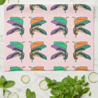 エジプト人によって飛ぶ姿タオル キッチンタオル