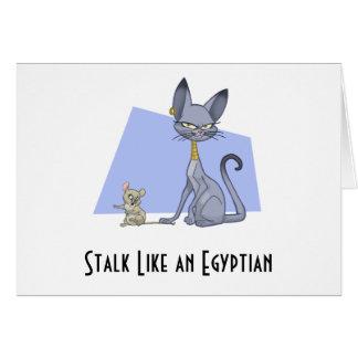 エジプト人のような茎-メッセージカード(ブランク) カード