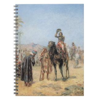 エジプト人のオアシスで着いているナポレオン(油はできます ノートブック