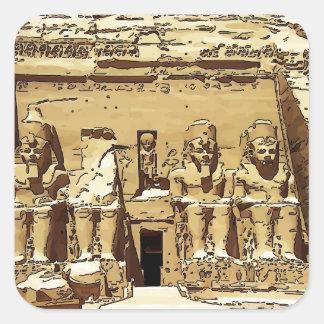 エジプト人のAbu Simbelの寺院 スクエアシール