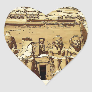 エジプト人のAbu Simbelの寺院 ハートシール