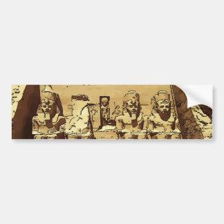 エジプト人のAbu Simbelの寺院 バンパーステッカー