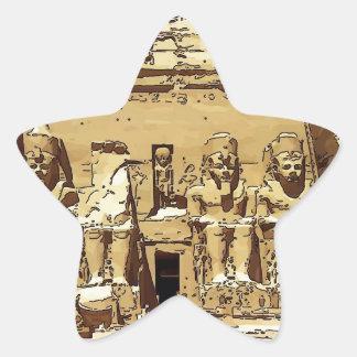 エジプト人のAbu Simbelの寺院 星シール