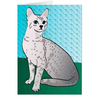 エジプト人のMau猫-水の背景 カード