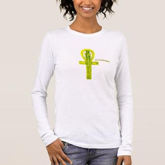 エジプト人Ankh 長袖Tシャツ
