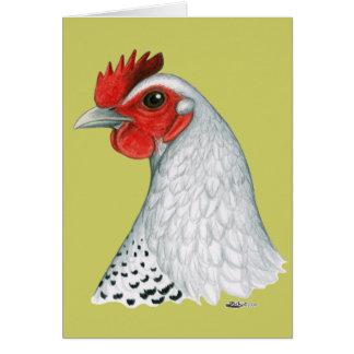 エジプト人Fayoumi:  銀製の雌鶏 カード
