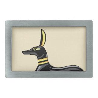 エジプト犬のベクトル 長方形ベルトバックル