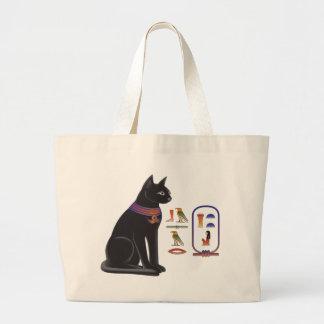 エジプト猫の女神Bastet ラージトートバッグ