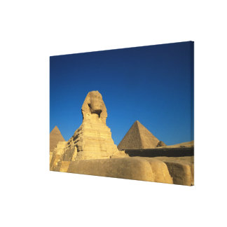 エジプト、ギーザのスフィンクス、古い王国、ユネスコ キャンバスプリント