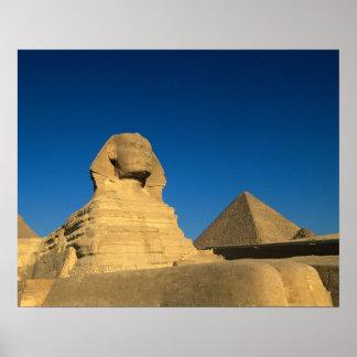 エジプト、ギーザのスフィンクス、古い王国、ユネスコ ポスター