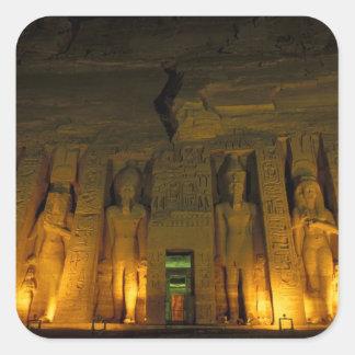 エジプト、Abu Simbelの小さいのつけられた正面 スクエアシール