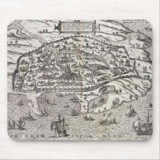 エジプト、c.1625 (版木、銅版、版画のアレキサンドリアの町の地図 マウスパッド